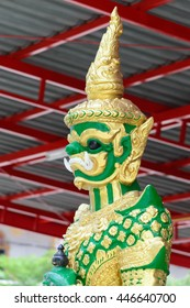 Green Giant standing at Posopponcharoen Temple in Pathumthani Thailand