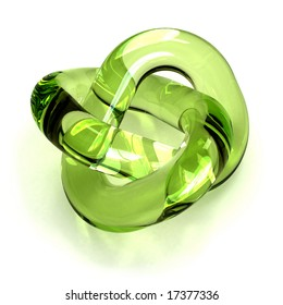 green glass torus knot