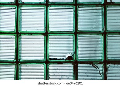 Green glass wall