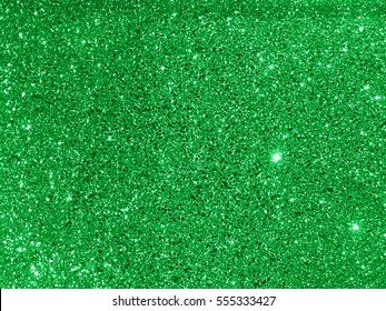 green glitter texture background close up