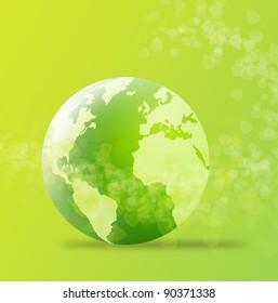 green globe,green concept