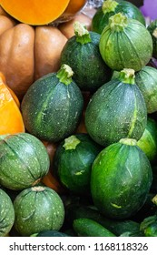 Green Gourds & Pumpkins on Sale in Borough Market, Southwark, London UK