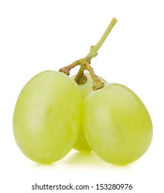 Green grape bunch isolated on white background cutout