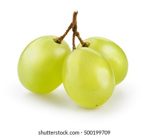 Green grape isolated on white. With clipping path.