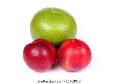 green grapefruit and nectarine
