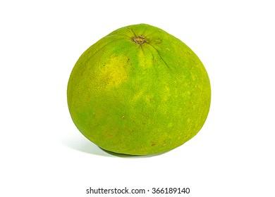 green grapefruit on white background