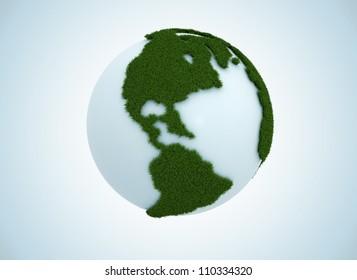 Green grass globe