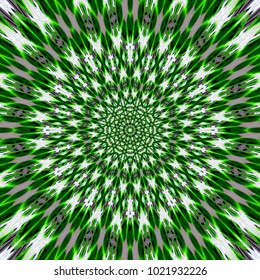 green grass star Mandala Flower Vibrant Kaleidoscope