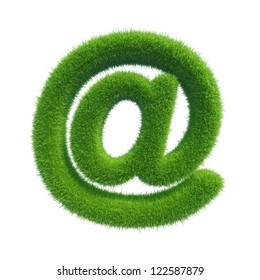 green grass symbol mail