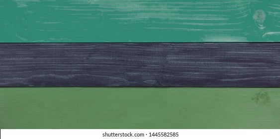 Green and gray rustic, natural, wooden background panorama - empty for design and space for text.