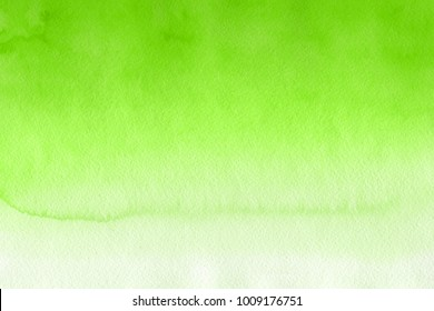 Green With Gray And White Realistic Watercolor Texture On Paper Background