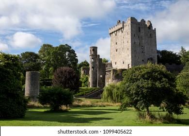 The green grounds surrounding an Irish castle