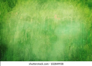 Green grunge wall texture background