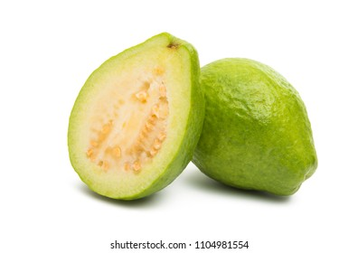 green guava isolated on white background