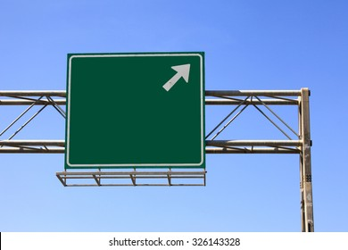 Green highway sign
