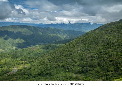 Green hills and clouds Northeast India