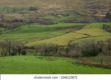 Green hills in County Kerry, Ireland