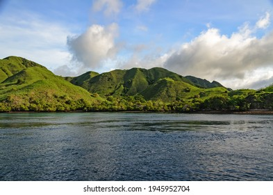 Green hills near the island of Komodo. Lesser Sunda Islands.  Indonesia