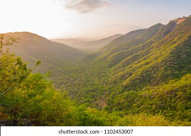 The green hills of Salalah during Khareef season