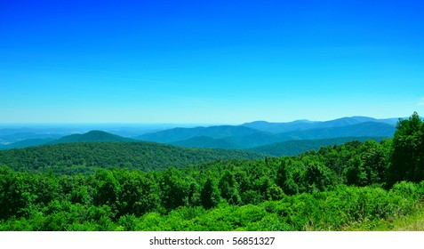 green hills in a summer day in west virginia