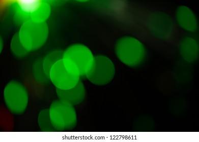 Green  holiday bokeh