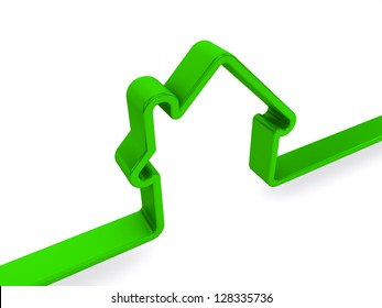 green home sign on a white background