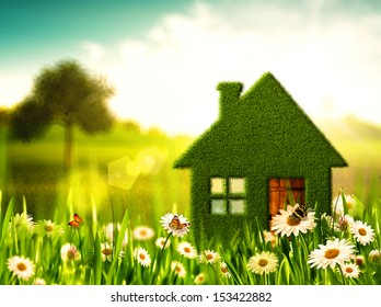 Green House. Abstract environmental backgrounds