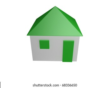 Green house - isolated in white background