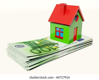 green house on euro isolated