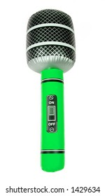 Green Inflatable Toy Microphone