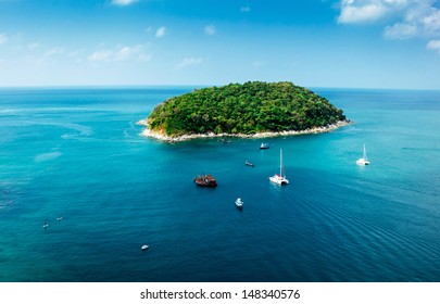 Green Island in the Andaman Sea, South of Thailand.