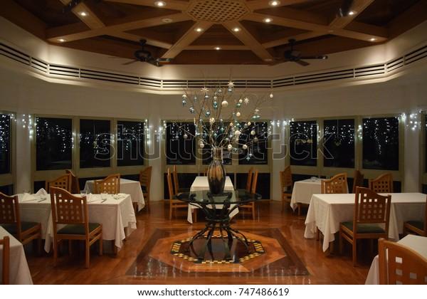 Green Island January 2017 Luxury Restaurant Stock Image