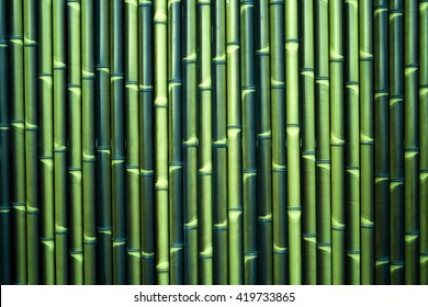 Green Japanese bamboo wall pattern