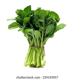 Green kale on a white background