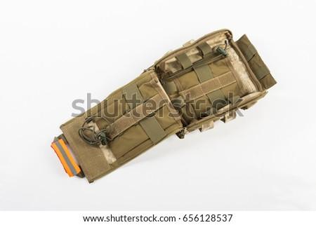 Green Khaki Military First Aid Kit Stock Photo (Edit Now) 656128537