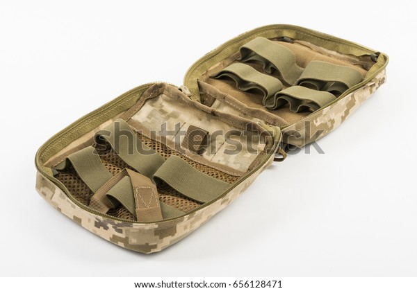 Green Khaki Military First Aid Kit Stock Photo (Edit Now