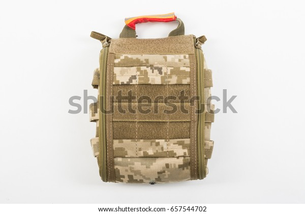 Green Khaki Military First Aid Kit Stock Photo (Edit Now) 657544702