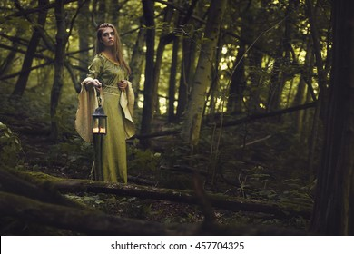 Green lady of the woods. Fantasy and fairy