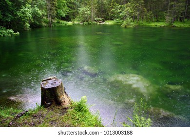 Green lake in the Alps