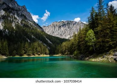 Green Lake Austria Summer tourist spot