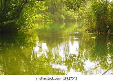 green lake in KRKA National Park, Croatia
