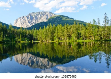 Green lake (Gr�¼ner see) in Bruck an der Mur, Austria