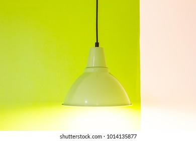 green lamp - ceiling light vintage.