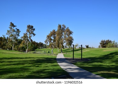 Green landscape at Kern River Parkway, Bakersfield, CA.