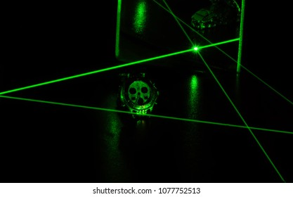 Green Laser Abstract Art