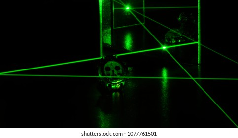 Green Laser Security System Watching Expensive Watch
