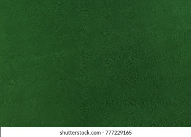 Green leather texure closeup