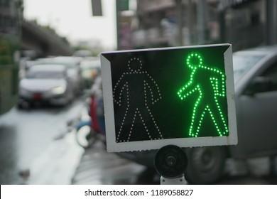 green led walk sign