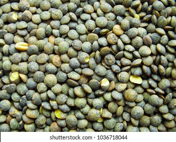 Green lentil backgroud. Food for health