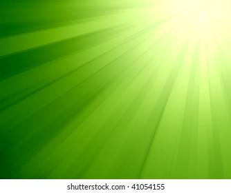 Green light burst